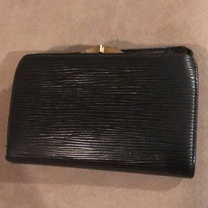 LV black French wallet